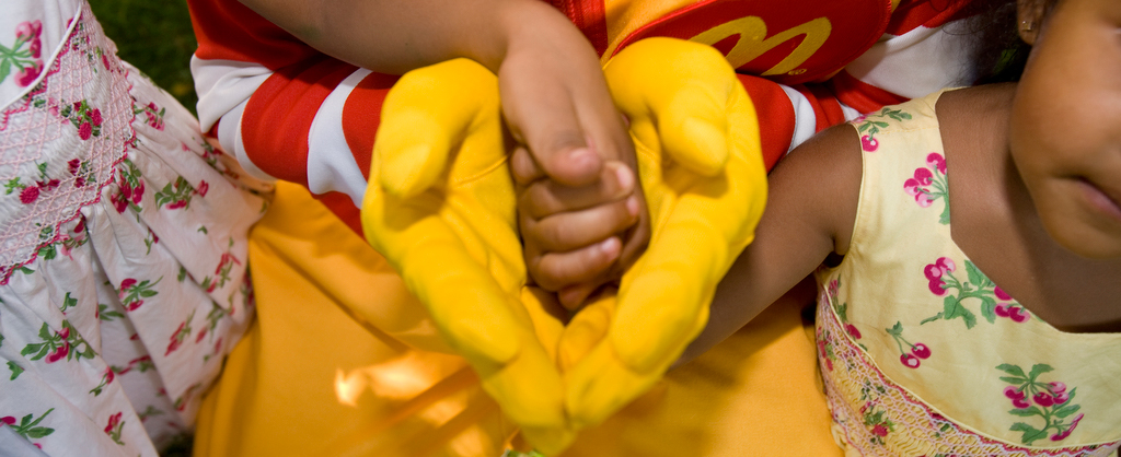 Ronald Holding hands.