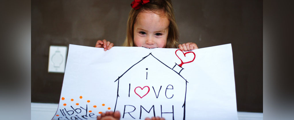 Libby and her I love RMH sign